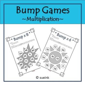 Multiplication Bump Game FREEBIE!