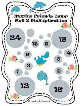 Multiplication Bump Game: Marine Life