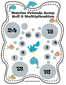 Multiplication Bump Game: Marine Life