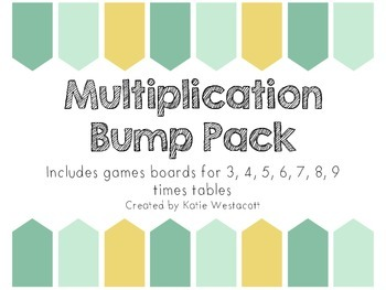 Multiplication Bump Game Pack