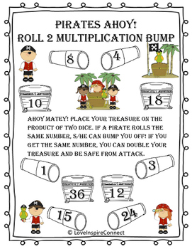 Multiplication Bump Game: Pirate Life
