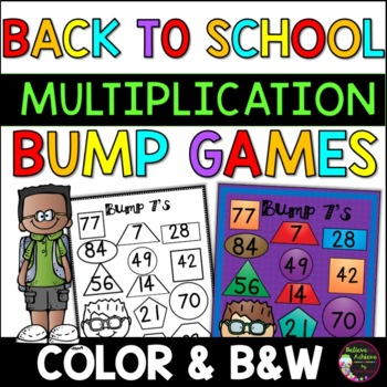 Multiplication Bump Games -2's to 12's (Back to School)
