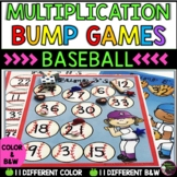 Multiplication Bump Games -2's to 12's (Baseball themed)