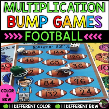 Multiplication Bump Games -2's to 12's (Football themed)