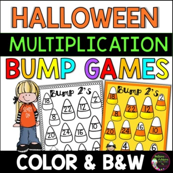 Multiplication Bump Games -2's to 12's (Halloween themed)