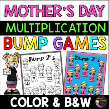 Multiplication Bump Games -2's to 12's (Mother's Day themed)