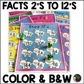 Multiplication Bump Games -2's to 12's (Spring themed)