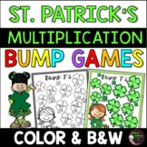 Multiplication Bump Games -2's to 12's (St. Patrick's Day themed)