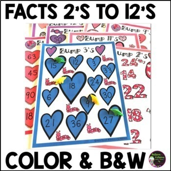 Multiplication Bump Games -2's to 12's (Valentine themed)