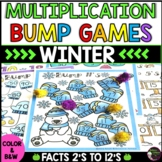 Multiplication Bump Games -2's to 12's (Winter themed)