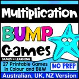 Multiplication Bump Games: 27 Multiplication Facts Games [AU UK NZ Edition]