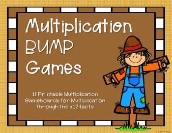 Multiplication Bump Games {Autumn}