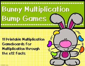 Multiplication Bump Games {Easter - Bunny}