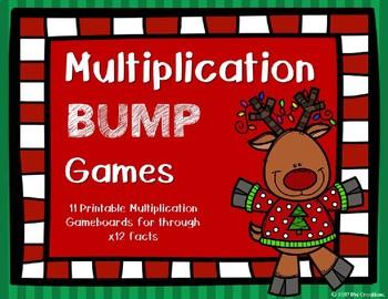 Multiplication Bump Games {Christmas Theme}