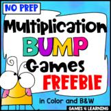 Multiplication Free: Multiplication Games, No Prep Multiplication Bump Games