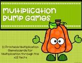 Multiplication Bump Games {Pumpkin}