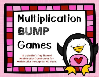 Multiplication Bump Games {Valentine's Day Theme}