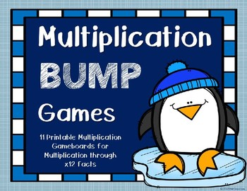 Multiplication Bump Games {Winter Theme}