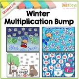 Multiplication Bump Game:  Winter Themed, Facts 2-12