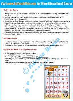 Multiplication Bump - a Game of Multiplying Using 2 Dice