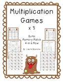 Multiplication Math with a Partner Games (x3 practice)