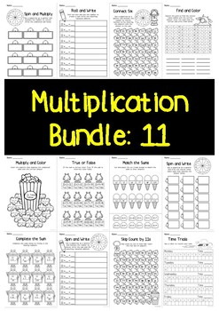 Multiplication Bundle: 11 Times Tables