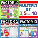 Multiplication Facts 2, 5 and 10