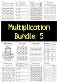 Multiplication Bundle: 5 Times Tables