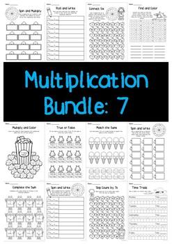 Multiplication Bundle: 7 Times Tables