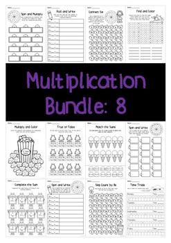 Multiplication Bundle: 8 Times Tables