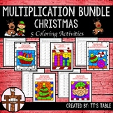 Multiplication Bundle Christmas Coloring Activities