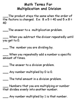 Multiplication and Division Practice Bundle