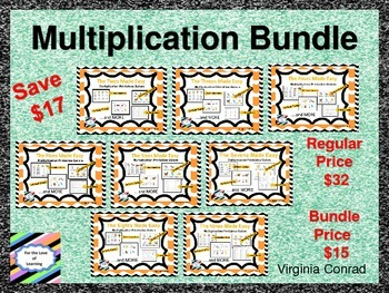 Multiplication Bundle--Printables Galore for the Twos thro