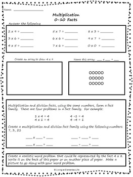 Multiplication Bundle for Beginners -Centers and Printables