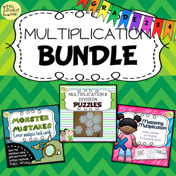 Multiplication Bundle for Grades 2, 3 and 4