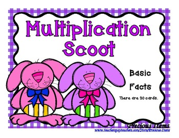 Multiplication Bunny Scoot
