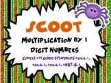 Multiplication By 1 Digit Numbers SCOOT (Common Core)