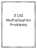 Multiplication CGI problems