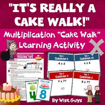 Multiplication Cake Walk Review Game