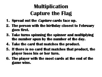 Multiplication Capture the Flag: Easy and Quick Station Game!