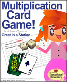 Multiplication - Fun Card Game - Great to set up as 2-3 Math Centers.