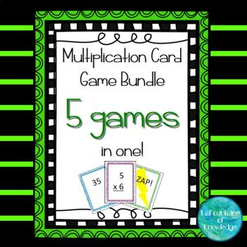 Multiplication Card Game Bundle - 5 Games in One!