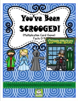 Multiplication Card Game (Scrooge Themed for the Christmas Holidays)