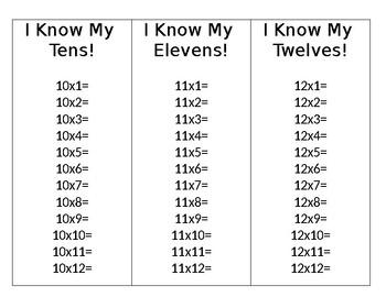 Multiplication Card Practice