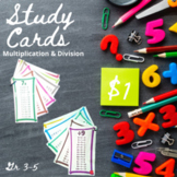 Multiplication and Division Study Cards (Facts 0-12)