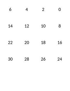 Multiplication Cards 2