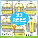 Multiplication Cards - 3 Times Tables Math Center