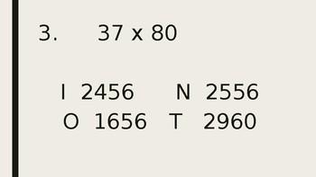 Multiplication Cards
