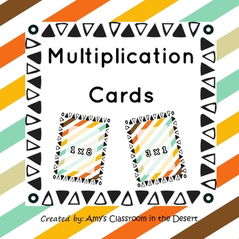 Multiplication Cards - For Games, Practice, and Work - 1 to 10