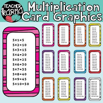 Multiplication Cards: MATH CLIPART